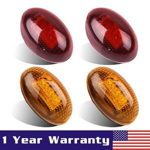 4pcs-For-1999-10-Ford-F350-3-LED-Dually-Bed-Front-Rear-Side-Fender-Marker-Lights