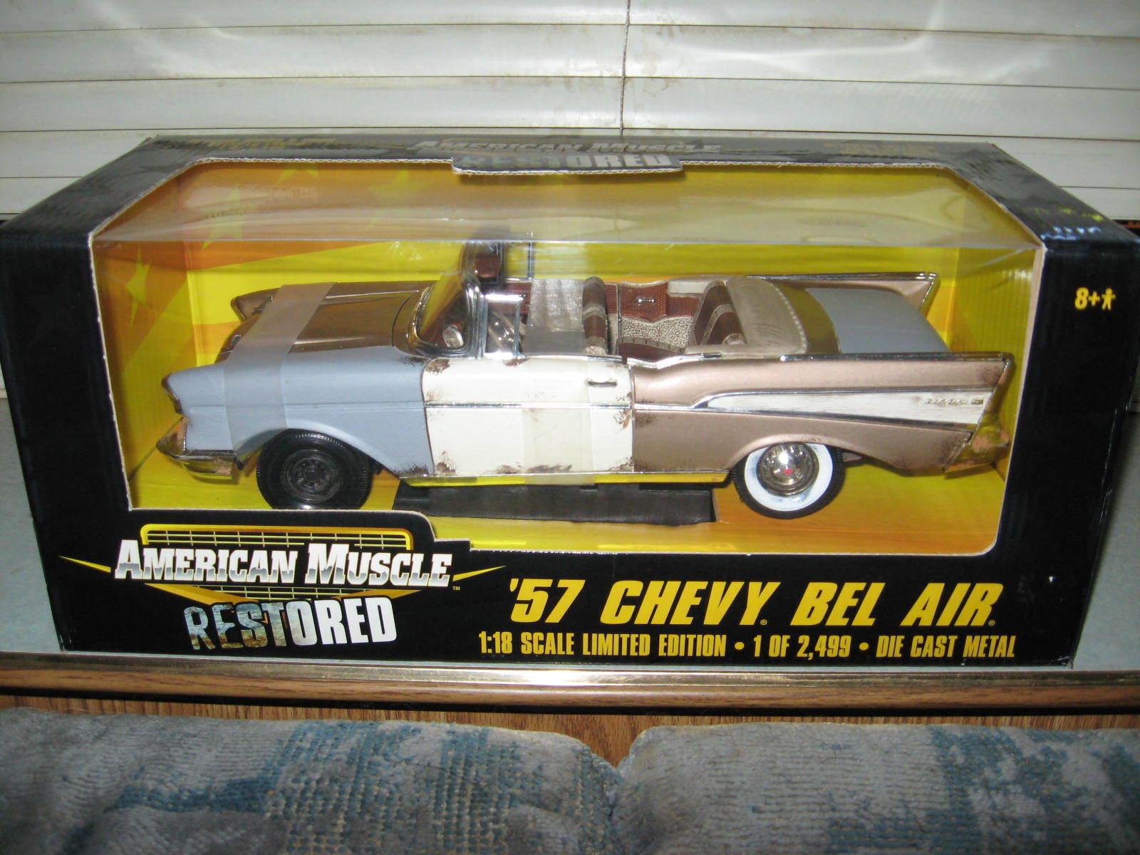 1 18 Ertl 1957 CHEVY convertible BEL AIR ONU restoruge 1 de 139 ERTL la première personne