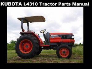 kubota l4310 tractor parts manuals 580pg for l 4310 dt gst hst rh ebay com Kubota Tractors L Series Kubota 4310 Parts Schematic