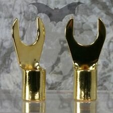 Vampire Wire #RG-6 Gold plated cut ring spade connector (2 Pairs / 4 Pieces)