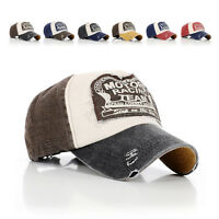 Fashion Unisex Vintage Retro Motorcycle Caps Baseball Golf Cotton Adjustable Hat