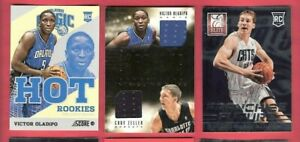 super popular 8315b 683eb Details about VICTOR OLADIPO & CODY ZELLER ROOKIE JERSEY #d 199 + ELITE &  SCORE HOT RC CARD IU