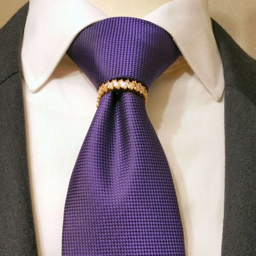 Tie Bling New Meteo 18K tone high quality clasp pin tack euro new suit wedding