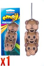 Retro Scents Emoji Car Air Freshener Fresh Linen - Monkeys