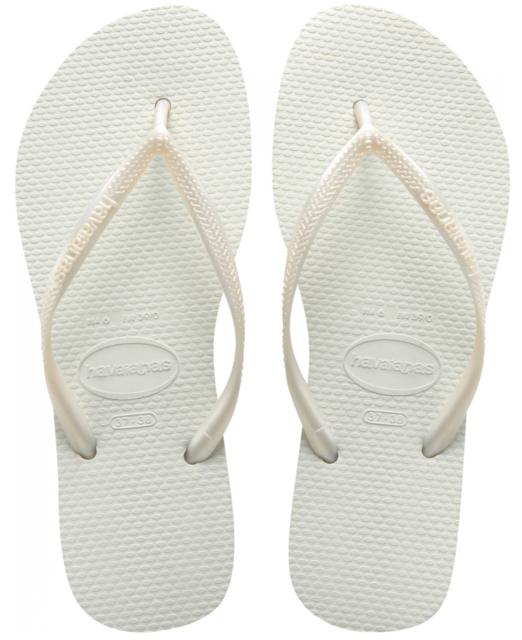 0b8442172 Havaianas Brazil Slim White Flip Flops Womens Thongs Sandals 3 4 5 6 ...