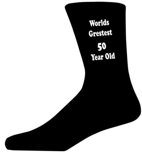 Mundos más grande 50 año de edad en Negro Calcetines Edad//Cumpleaños Novedad Calcetines