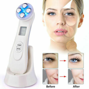Beauty & Health Multifunction Led Photon Therapy Beauty Device Tighten Lifting Whitening Anti-aging Acne Ultrasonic Vibration Facial Massager