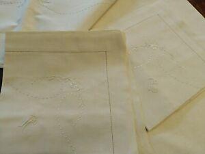 Special-Ed-Pregio-Antique-Sheet-Matrimonial-2-Pillowcases-Initial-C