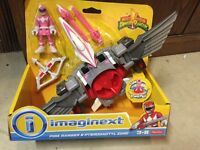 Fisher Price Imaginext Pink Ranger And Pterodactyl Zord Launchers Toy 2015