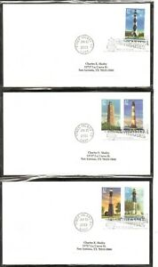 US-SC-3787-3791-Southeastern-Lighthouses-FDC-No-Cachet