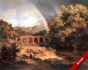 ANCIENT ROMAN FRESCO PAINTING OF GARDEN TREE /& BIRDS ROME ART REAL CANVAS PRINT