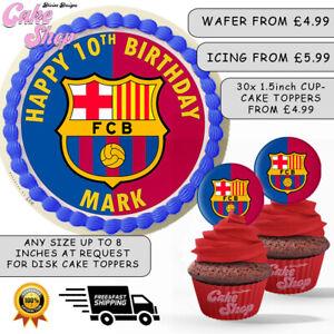 Fc Barcelona Personalised Edible Birthday Cake Cupcake Topper Ebay