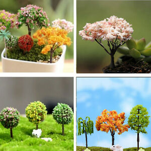 Miniature sakura tree plants fairy garden decor - Garden decor accessories ...