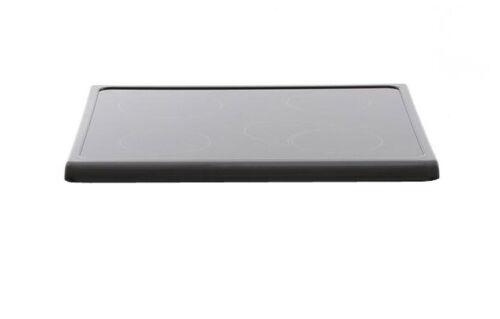 Piano Cottura Fornello Cannon C00260990 parte superiore in vetro nero J00164324