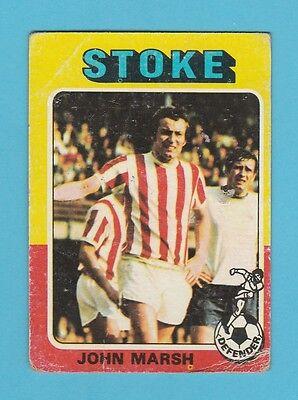 JOHN MARSH TOPPS-FOOTBALL -#286- STOKE CITY BLUE BACK 1976