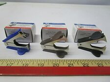 Lot Of 3 Claw Jaw Style Staple Remover 32002 Various Colors Office Supplies
