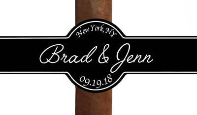 Set of 16 Personalized Cigar Labels Happy Birthday Party Favor Custom Personal
