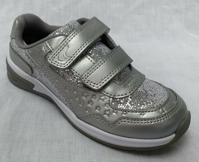Girls Clarks Piper Play Inf Aqua Or Pink Leather Trainers F /& G Fittings