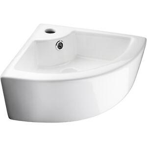 Lavabi Ad Angolo Lavandini Bagno.Ceramica Lavabo Angolare Lavamani Ad Angolo Lavandino Sospeso Bianco