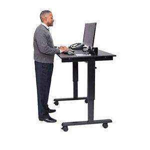 Luxor 48 Inch Crank Adjustable Stand Up Desk Standcf48 Bk Bo