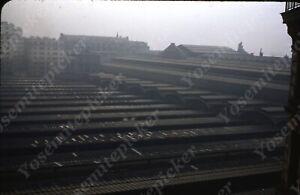 SL15 Original Slide 1950's Red Kodachrome Germany Rooftop 262a