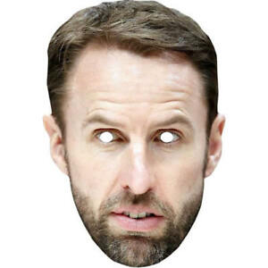 Gareth Southgate World Cup Football Card Celebrity Mask All Masks Are Pre-Cut
