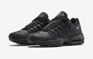 35c534f3cb91 NEW Sz 9 Men s Nike Air Max 95 Ultra Jacquard Black Silver 749771 ...