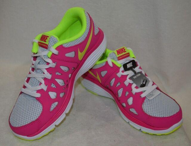 85ea128cc3b3 Nike Girls Dual Fusion Run 2 GS Sneaker Pure Platinum Volt Ice Pink ...