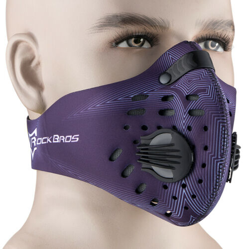 RockBros Outdoor Cycling Anti-dust Half Face Mask with Filter Neoprene Blue