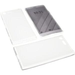 Tasche-fuer-Sony-Xperia-X1-2018-Handytasche-Schutz-Huelle-TPU-Gummi-Transparent