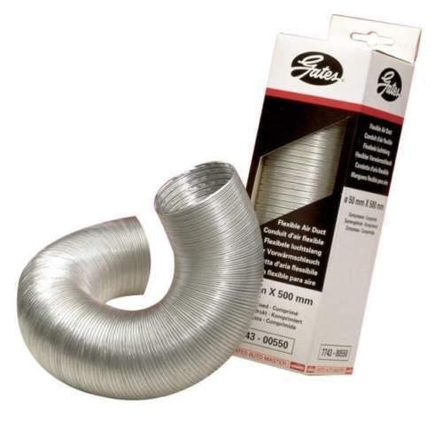 Aluminium Hot Air Ducting Flexible Heat Resistant Car Engine Pipe 55 mm X 500 mm