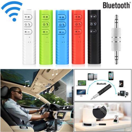 Mini Wireless Bluetooth Car Kit AUX Audio Receiver Hand Free 3.5mm Multi Colors