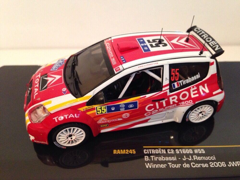 Citroen Citroen Citroen C2 S1600  55 Gewinner Tour De Corse 2006 Ixo Ram245 Neue Auflage 619398