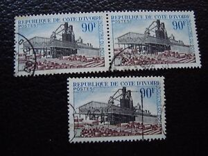 Valor-De-Marfil-Sello-Yvert-Y-Tellier-N-276-x3-Matasellados-A27-Stamp