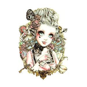 Body-Art-Beauty-Makeup-Girl-Doll-Tattoo-Waterproof-Temporary-Tattoo-Sticker-FA