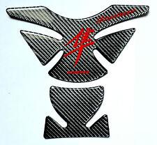 Suzuki Hayabusa GSX Real Carbon Fiber + Red Tank Protector Pad Trim Sticker