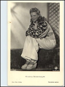 DDR-Postkarte-Kino-Buehne-Film-Foto-Verlag-AK-Schauspielerin-Kristina-Soederbaum