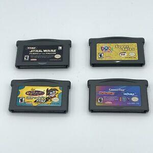 Nintendo-Gameboy-Advance-GBA-Lot-Star-Wars-Dora-Fairly-Odd-Parents-Connect-Four