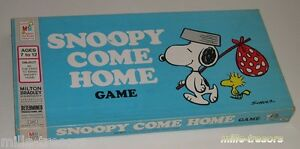 Jeu-SNOOPY-come-home-Game-1973-MILTON-BRADLEY-Company-Peu-courant