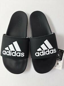 Adidas-Women-039-s-Adilette-Comfort-Slides-Sz-8-Core-Black-Cloud-White