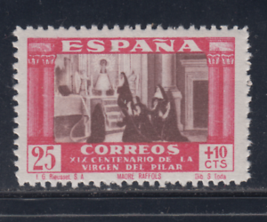 Espagne-1940-Neuf-avec-Charniere-Mlh-Edifil-892-25-Cts-10-Cts-Lot-1