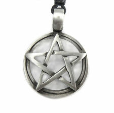 Pentagram Pentacle Gothic Pagan Wiccan Circle Star Symbol Amulet Pewter Pendant