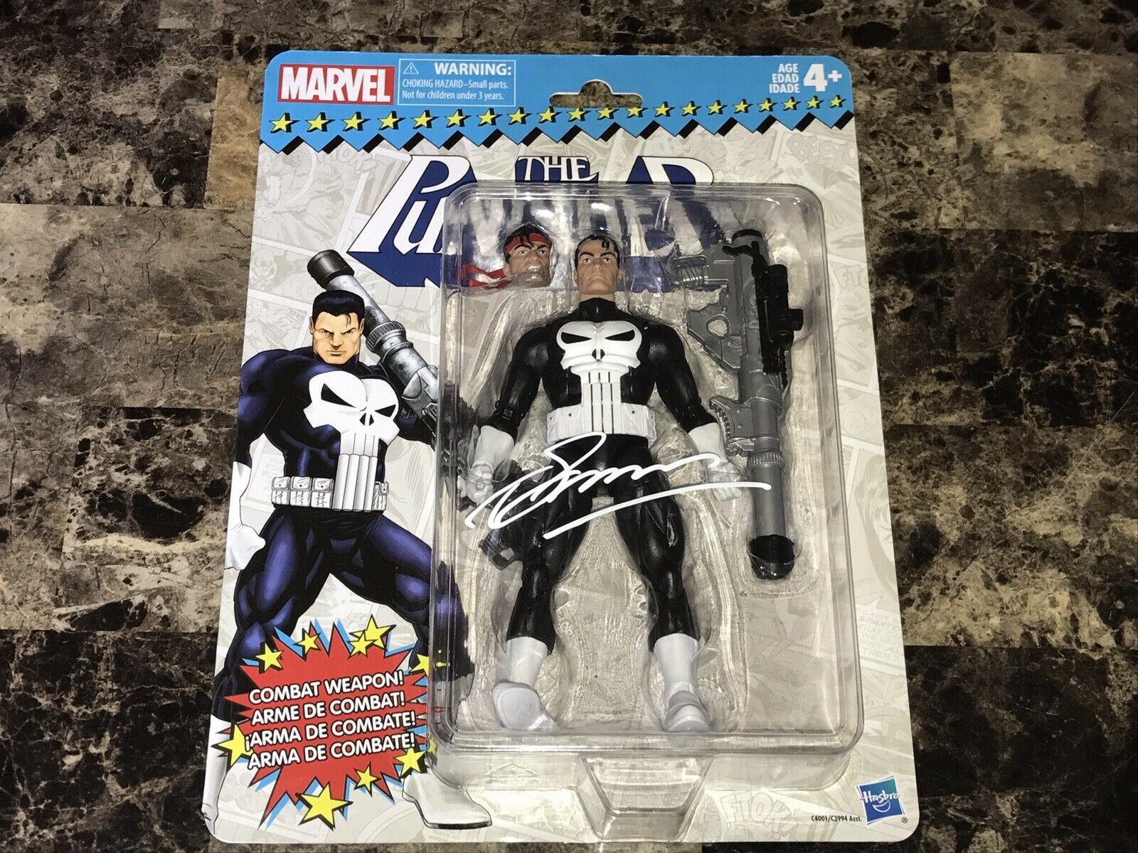 The Punisher Signed Hasbro Marvel Action Figure Statue Creator Gerry Conway COA