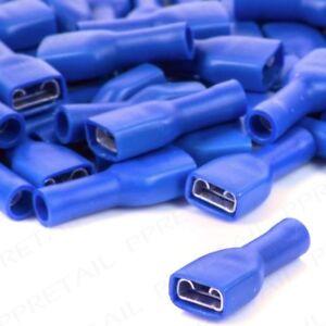 Crimp Terminals Female Spade Insulated BLUE connectors WT 4.8mm-6.3mm