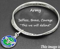 Army Mobius Bangle Army Girl Charm Bracelet-& Inspirational Prayer Card