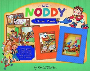 NEW Noddy Classic Storybook Set of 6 Prints + 2 Mounts Enid Blyton Keepsake Gift 9781743468425