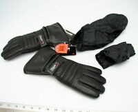 Rc First Leather Gauntlet 3m Thinsulate & Nylon Raincover Motorcycle S Gloves