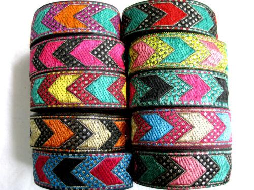 25mm breit B34 lfm Borte in verschiedenen Farben