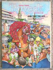 TRIPLE CROWN Kentucky Derby Horse Racing Chicago Tribune TV guide Apr 30 1989
