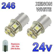 2 X Bianco 24V LED BA15S 246 R10W 8 SMD TARGA INTERNI LAMPADINE Mezzi Pesanti Camion